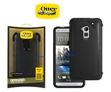 OEM OtterBox Defender Case in Black and Belt Clip Holster for HTC One Max