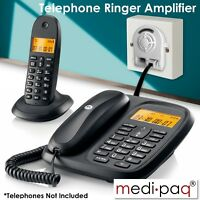 Telephone Ringer Amplifier and Flasher - Ideal for Noisy Workplaces and the Deaf