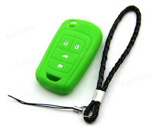 Green Silicone Case Cover For Chevrolet Equinox 4 Button Remote Flip Key CHEV4FG