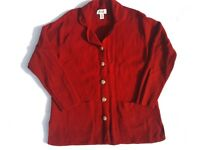 TALBOTS Petite Red Size PM Cardigan Sweater