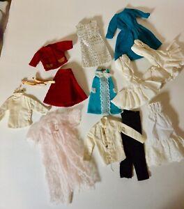 Vintage Barbie France Ken Clone Fashion Doll Clothing Dress Pants Robe LOT of 12