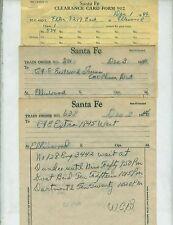 AT&SF (SANTA FE) RAILWAY TRAIN ORDERS  (17)  ELLINWOOD, KANSAS  1946-1965.