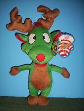 """Sugar Loaf plush Eco-Friendly Green Reindeer 15"""""""