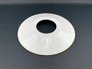 Alter Emaille Lampenschirm Tellerlampe Weiß Ø 24,5cm Fabrik Loft Industrie #3