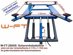 26009 wft: Mobile Scherenhebebühne 230 Volt, blau, Europ.Prüfzertifikat