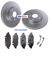 FOR MERCEDES VITO CDi W639 (2004-2017) FRONT 2 BRAKE DISCS & PADS LEADS NEW