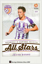 2013-14 A League Trading Cards All Stars AS17 Jacob Burns (Perth Glory)