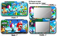 Super Mario Bros U luigi Skin Sticker Cover Decal #1 for NEW Nintendo 2DS XL