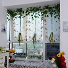 Voile Door Window Curtain Room Sheer Drape Panel Floral Scarf Sheer Valance new