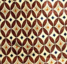 "Pertegaz Mens Necktie Yellow/Beige Brown Blue Oval Geometric Pattern 57"" x 3.75"""