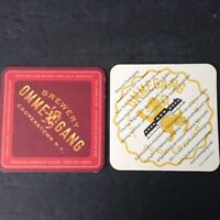 Vintage Beer Coaster/Mat Brewery OMMEGANG, Witte Wheat Ale, Cooperstown, NY