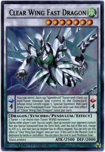 YUGIOH Clear Wing Fast Dragon YA02-EN001 Ultra Rare Limited Edition
