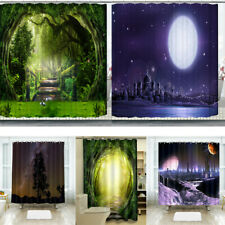 3D Digital print Polyester Shower Curtain waterproof Plain Long bathroom decors