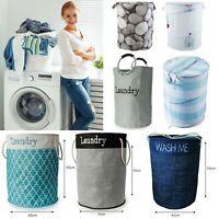 Large Pop Up Bin Laundry Folding Wash Basket Bag Storage Hamper Double Small XL