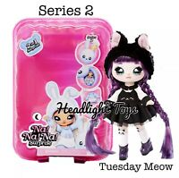 Series 2 Na Na Na Surprise TUESDAY MEOW 2 IN 1 Fashion Doll Pom Purse Kitty