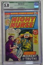 NIGHT NURSE #2 (1973) CGC 5.0 2nd APPEARANCE LINDA CARTER Marvel incomplete