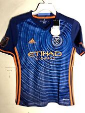 Adidas Youth MLS Jersey New York City FC Team Blue sz XL