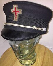 Antique KNIGHTS OF TEMPLAR Pettibone Masonic Hat Cap G H Lilly 7 1/2 CINCINNATI