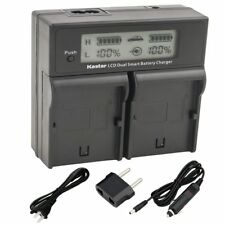 LP-E17 LCD Dual Charger for Canon Rebel SL2 T6i T6s T7i, KISS X8i X9i, EOS M3 M5