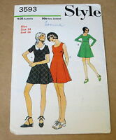 "VINTAGE STYLE WOMENS DRESS PATTERN 1970s BUST 36"" 3593"