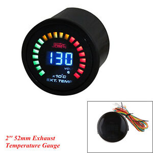 Car Truck 2'' 52mm Digital 20 LED Exhaust Gas Temperature Gauge GET With Sensor