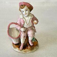 🚶 statuette figurine pyrogène porcelaine allemande Conta & bohème