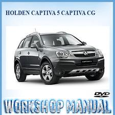 HOLDEN CAPTIVA 5 CAPTIVA CG 2006-2011 WORKSHOP SERVICE REPAIR MANUAL IN DISC