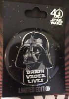 Star Wars Celebration Orlando 2017 Darth Vader Lives Limited Edition Disney Pin!
