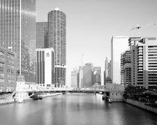 CHICAGO RIVER CLARK STREET BASCULE BRIDGE 8X10 PHOTO