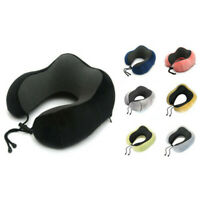 Portable U-Shape Headrest Memory Foam Neck Support Travel Office Neck Pillow