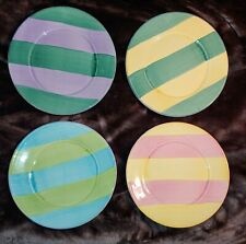 Pottery Barn Salad Plate Sunnyside Stripes Stripe Pattern Set of 4