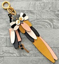 PORTACHIAVI gufo in pelle BURBERRY/ciondolo borsa con lucchetto utilizzabile