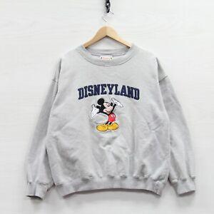 Vintage 90\u2019s DISNEY MICKEY MOUSE Printed Big Logo Disney Sweatshirt Cartoon Crewneck Sweatshirt  Size XLarge