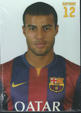 Postal postcard 12 RAFINHA  jug.  FC BARCELONA 14/15