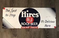 Vintage Hires Root Beer Porcelain Enamel Sign 28x11