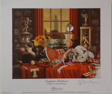 """TEXAS Football  """"Longhorn Traditions"""" print signed by Greg Gamble"""
