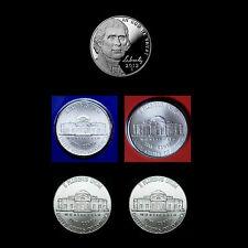 2012 P+D+S Jefferson Nickel Set ~ Proof & PD Mint Wrap + PD from Roll