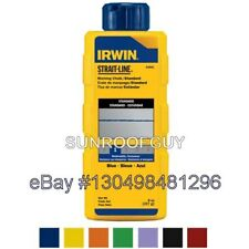 IRWIN Strait-Line Chalk Refill - Various Colors - NEW