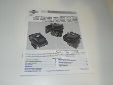 Briggs Stratton Engine Operator manual;  12A, 12B, 12C, 12D,12F,12G,12H and More