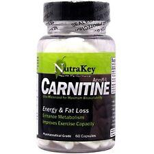 Nutrakey L-Carnitine 500mg 60 V Capsules Pharmaceutical Grade