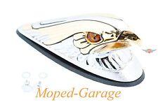 Harley Chrom Drag Eagle Gold Fender Schutzblech Ornament Figur beleuchtet Neu