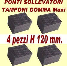 PONTE SOLLEVATORE  4 TAMPONI GOMMA ALTEZZA 120 MM per
