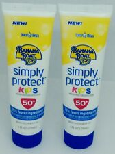 2 Banana Boat Simply Protect Kids Tear Free Sunscreen Lotion SPF 50 1 fl oz ea