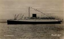 CRUISE LINERS MS LAFAYETTE FRENCH LINE REAL PHOTO