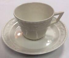 Vintage ZA Fine China White Demitasse Cup & Saucer PreownedKitchen.com