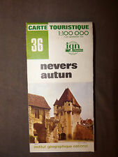 Carte IGN verte  36 nevers autun   1976