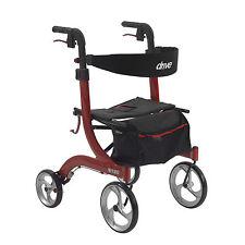Drive Medical RTL10266 Nitro Euro Style Walker Rollator, Red