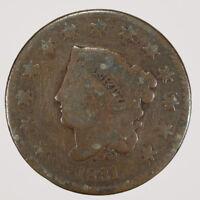 1831 1c CORONET HEAD LARGE CENT LOT#D483