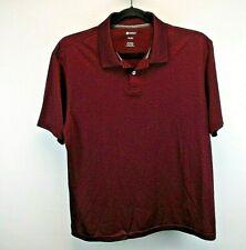 Haggar Clothing Short Sleeve Men's XL Polo Shirt Maroon & Black Color Blend