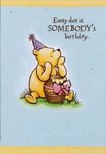 Winnie the pooh greeting greeting cards for sale ebay vintage winnie the pooh with honey pot gift disney birthday card for kids m4hsunfo